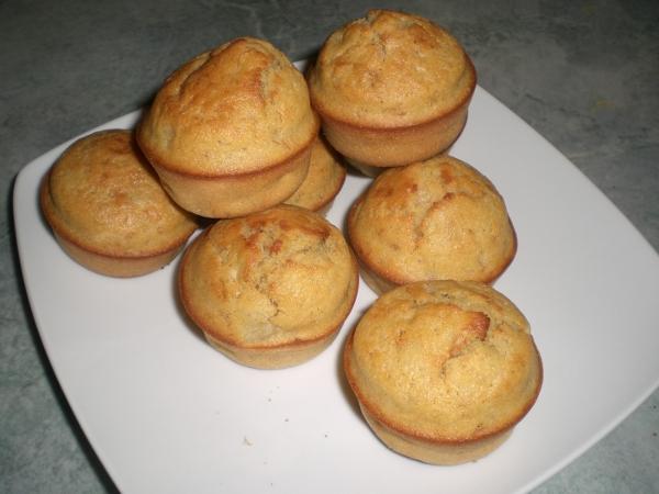 Muffins maïs banane muscade